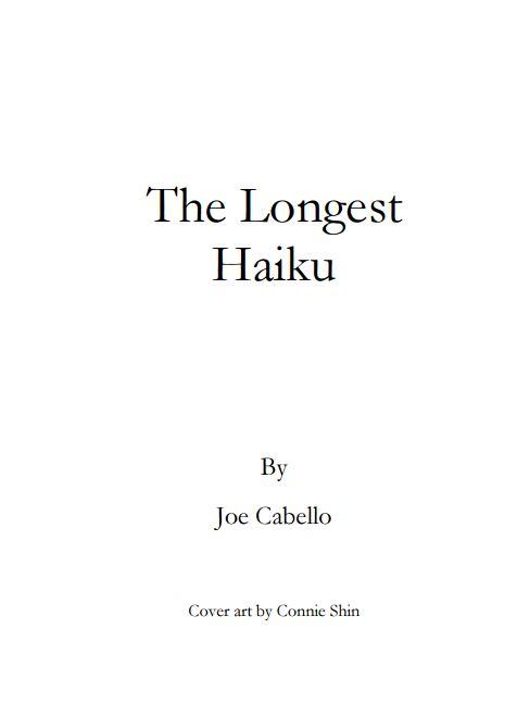 the longest haiku page 1